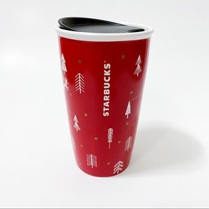 NEW Starbucks ceramic holiday tumbler